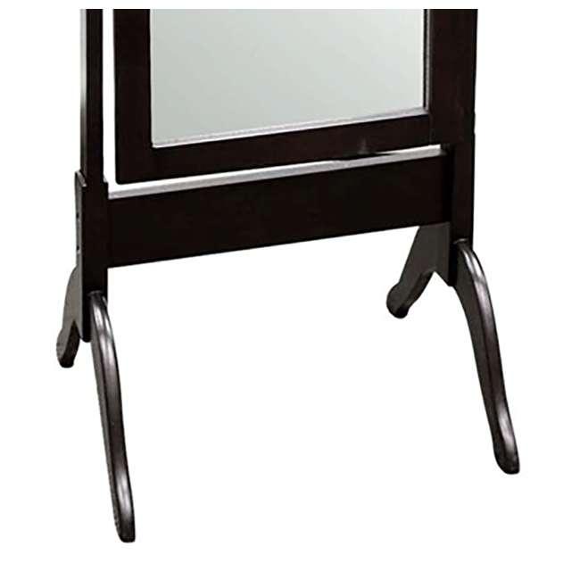 SC-MI12156 Abode 84 Full Length Wood Cheval Dressing Mirror, Mahogany 3