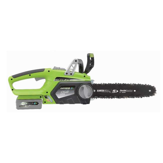 LCS32412 Earthwise 12-Inch 24-Volt Cordless Battery Powered Chainsaw