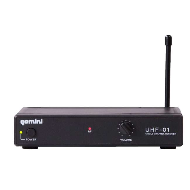 UHF-01M F1 Gemini Wireless Microphone System with Microphone Transmitter 2