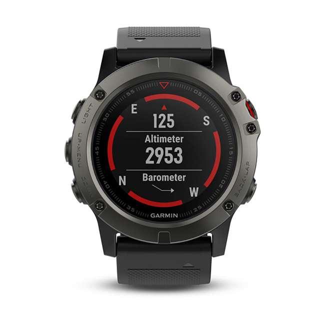 010-01733-00 Garmin Fenix 5X Multi-Sport 64 MB Smart Watch, Gray 1