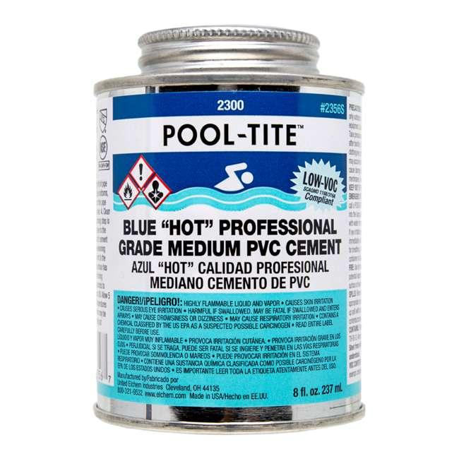 4 x 2356S United Elchem Pool-Tite PVC Cement, Blue (4 Pack) 1