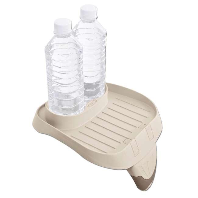 28403VM + 28500E + 28501E Intex PureSpa 4 Person Inflatable Spa Portable Hot Tub with Cupholder & Headrest 5