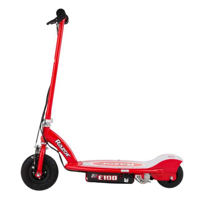 13111260 + 97778 + 96785 Razor E100 Electric Scooter (Red) with Helmet, Elbow & Knee Pads 2