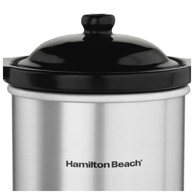 33564 + 33101 Hamilton Beach Digital Slow Cooker & 16-Oz Party Dip Food Warmer 7