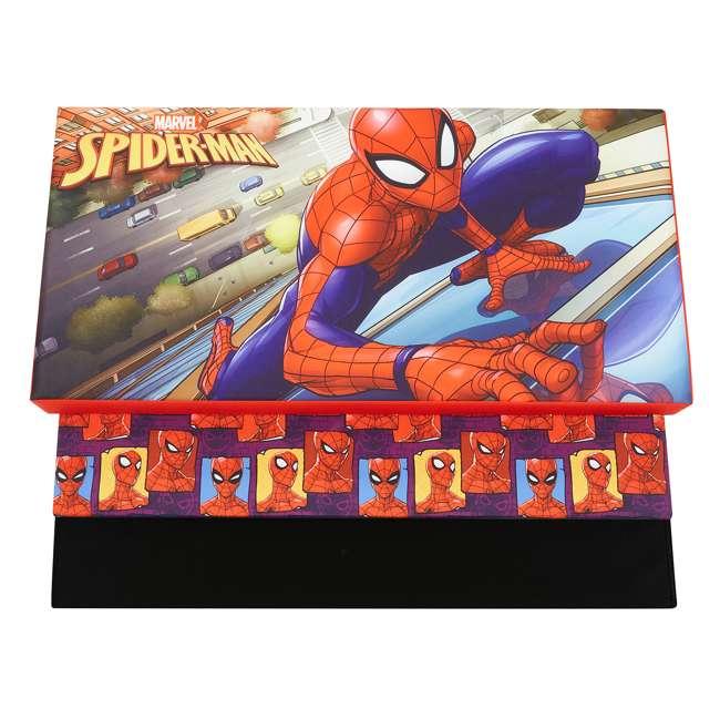 520021-001 Fresh Home Elements 30-Inch Licensed Folding Super Toy Chest & Bench, Spider-Man 2