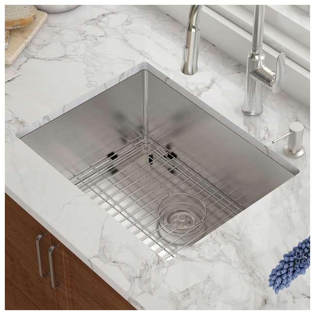 KHU101-23 Kraus 23-Inch Rectangular Undermount Stainless Steel Kitchen Sink (2 Pack) 4