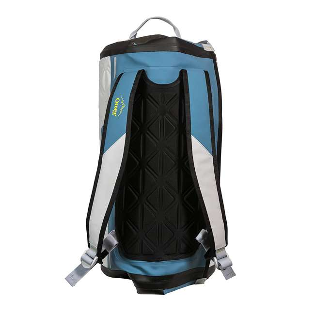 77-57796 Yampa 70 Liter Dry Duffle Waterproof Backpack Bag, Hazy Harbor Gray and Blue 1
