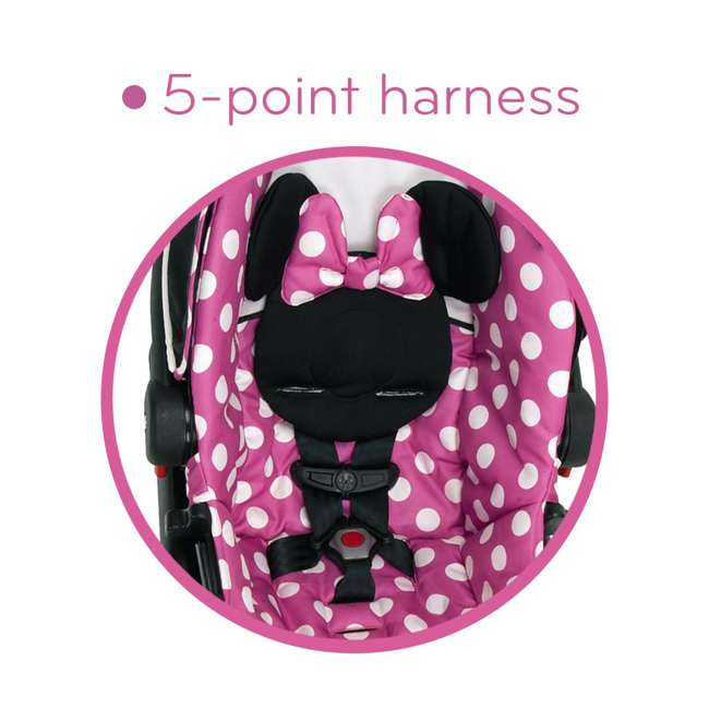 IC233BZE Disney IC233BZE Light and Comfy 22 Luxe Minnie Mouse Infant Seat, Pink 4