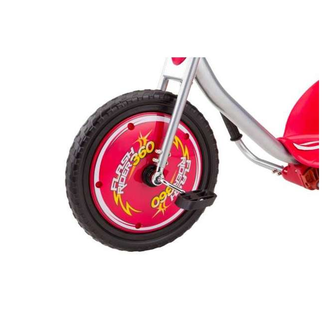 97778 + 20036559 Razor V17 Youth Skateboard/Scooter Sport Helmet & Drifting Ride-On Tricycle, Red 4