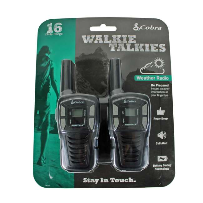 10 x CX112-U-A Pair of Cobra CX112 16 Mile 22ch FRS/GMRS Walkie Talkie - Open Box (10 Pairs) 2