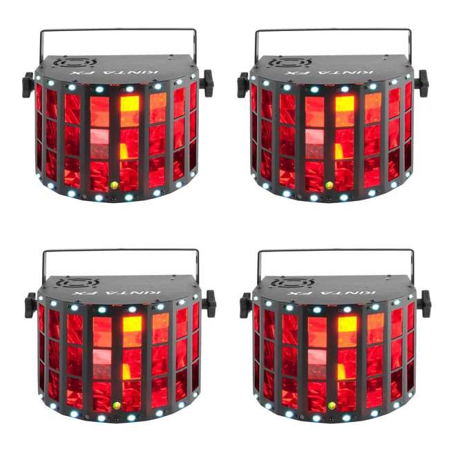 4 x KINTA-FX Chauvet DJ Kinta FX Multi-Effect Light (4 Pack)