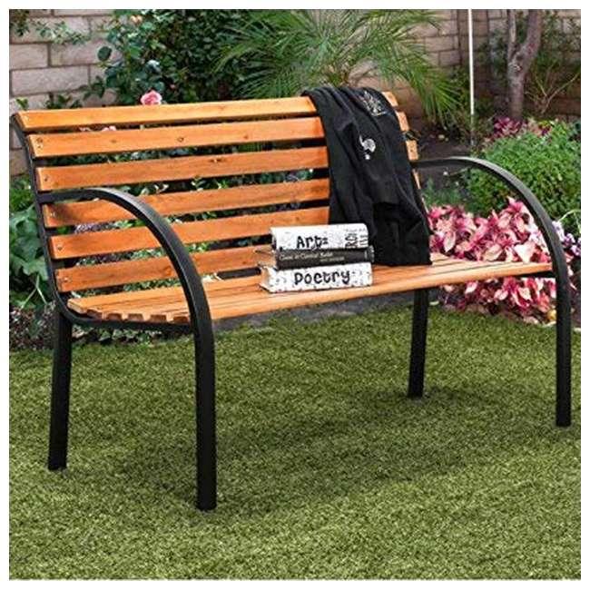 IDF-OB1805 Furniture of America IDF-OB1805 Dumas Weather Resistant Outdoor Patio Bench 4