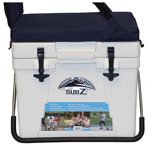 2193384-MW Sub Z 23-Quart Travel Cooler with Cushion Seat, White (2 Pack) 2