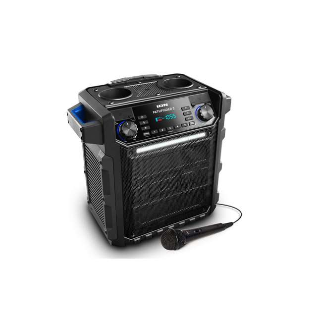 iPA79A-BLUE ION Pathfinder High-Power Water-Resistant Rechargeable Speaker, Blue
