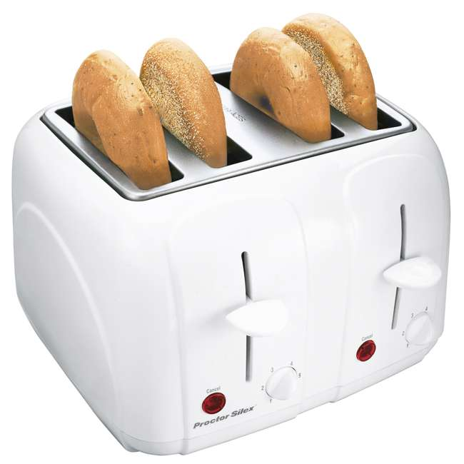 24203Y Proctor Silex 24203Y 4-Slice Cool-Touch Toaster White