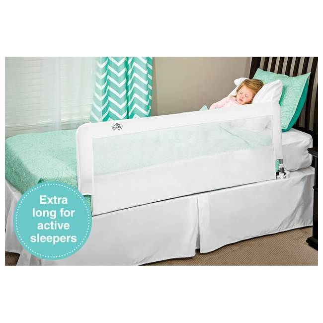 5010 HD-N Regalo 20-Inch HideAway Extra Long Safety Support Bed Rail with Mesh Wall, White 1