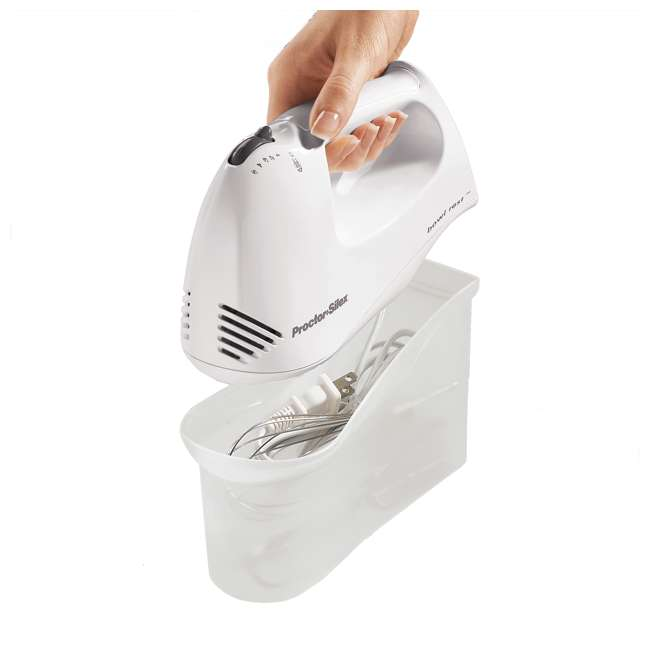 62545Y Proctor Silex 150W 5-Speed Hand Mixer with Storage Case 4