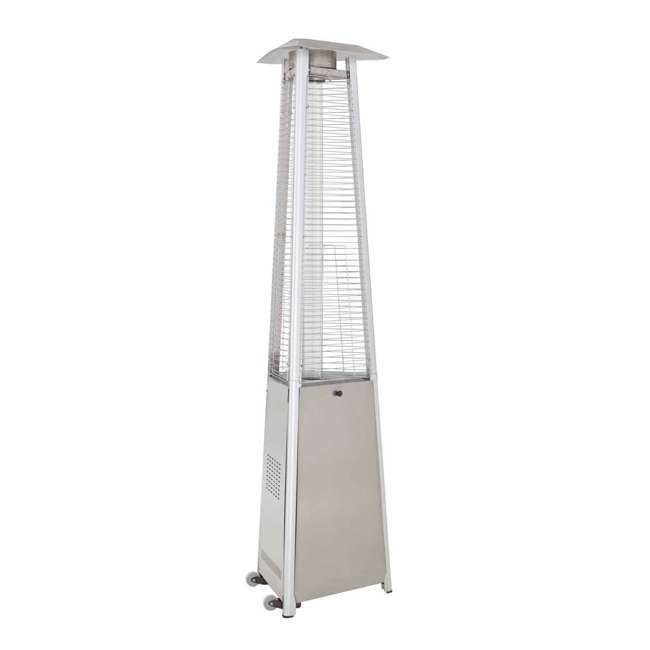 HLDS01-CGTSS AZ Patio Heaters Tall Triangle Glass Tube Propane Heater, Stainless Steel