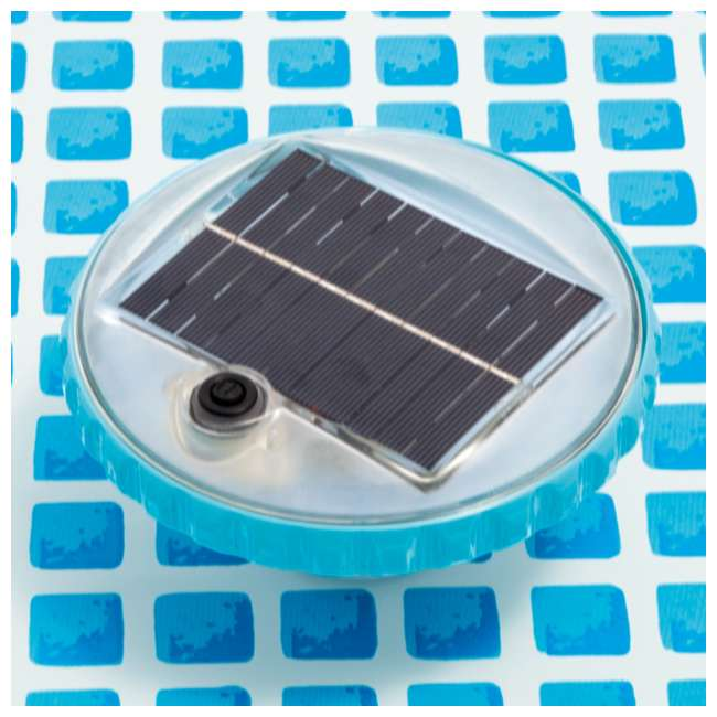 28695E Intex 28690E 3 Color Changing Solar Powered Auto On LED Floating Pool Light 2