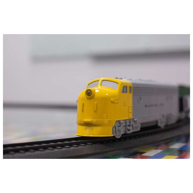 00958 Bachmann Industries 24-Piece HO Scale Battery Operated Rail Express Kid Train Set with Sound, Yellow 8