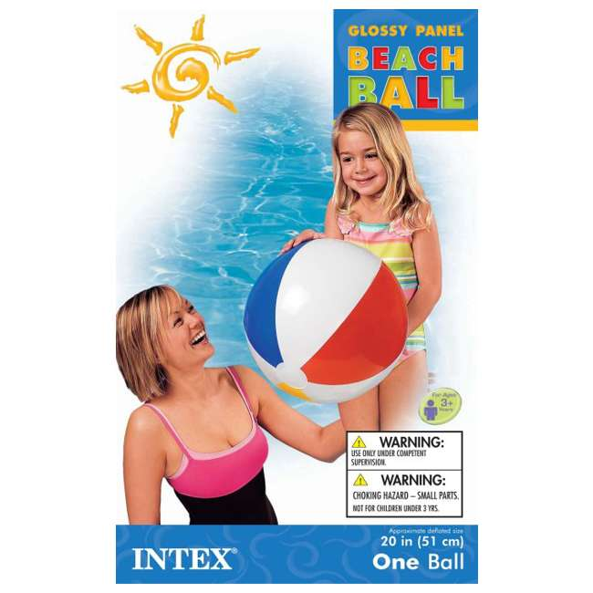 59020EP Intex Classic Inflatable Glossy Panel Colorful Beach Ball - (Set of 2) | 59020EP 3