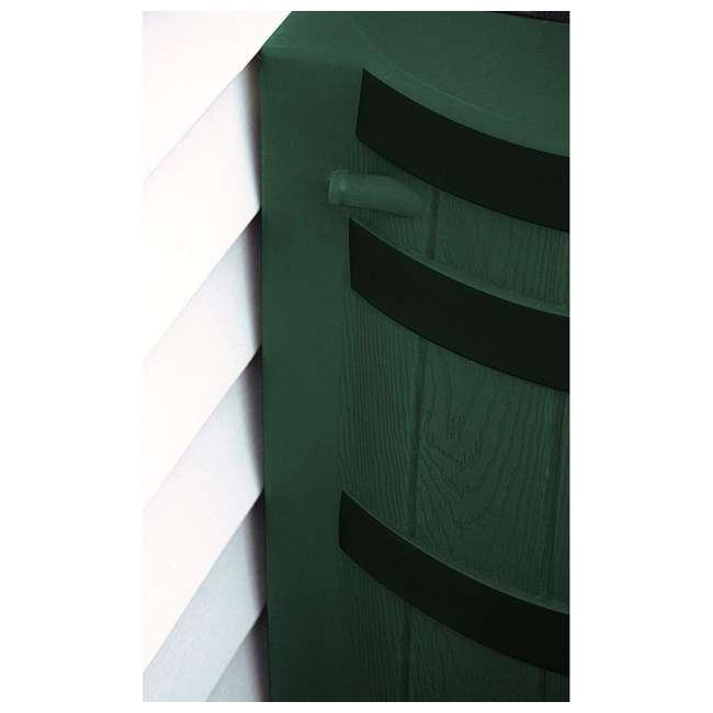 RW50-DR-GRN Good Ideas Rain Wizard Rain Collection Rain Barrel 50-Gallon Dark Ribs, Green 4