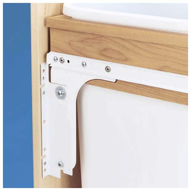 4WCTM-18DM2-U-A Rev A Shelf 35 Quart Pull Out Sliding Double Waste Trash Bin (Open Box) (2 Pack) 2