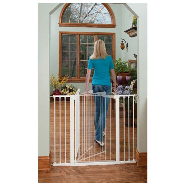 G1200 KidCo Extra Tall & Wide Auto Close Gateway Gate, White (2 Pack) 2