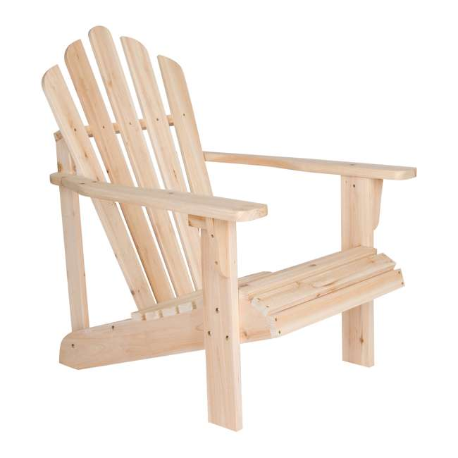 SHN-4611N Shine Company Westport Adirondack Chair, Rust Brown 5