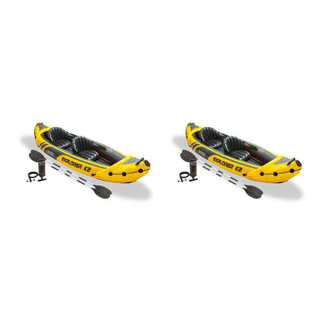 68307EP Intex Explorer K2 2-Person Inflatable Kayak Set (2 Pack)