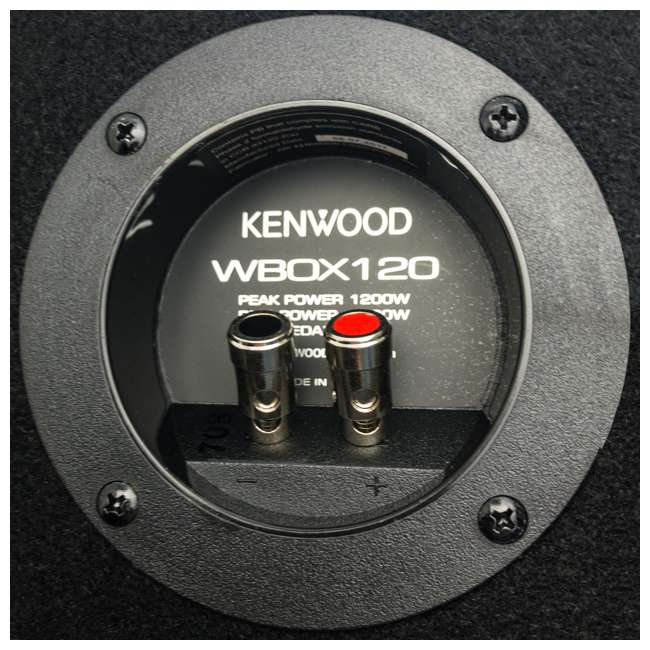 P-W121B Kenwood P-W121B 12-Inch Loaded Sealed Subwoofer & Amp Package 3