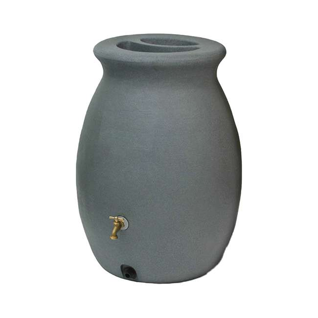 ALG-81303 Algreen Castilla 50-Gallon Rain Water Collection Barrel, Charcoal 1