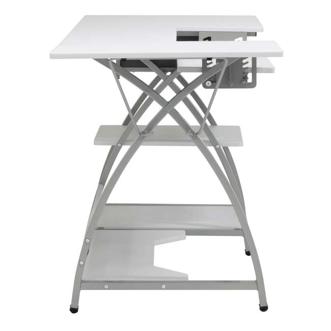 STDN-38018 Sew Ready STDN-38018 Venus Sewing Machine Craft Table Computer Desk, Silver 7