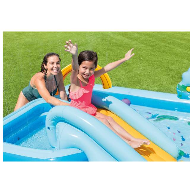 "57161EP Intex 96 x 78 x 28"" Inflatable Jungle Adventure Play Center Spray Kiddie Pool 3"