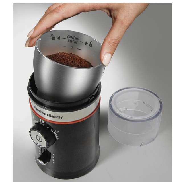 45300 + 80393-HB Hamilton Beach Coffee Maker & Custom Electric Bean Blade Grinder 4