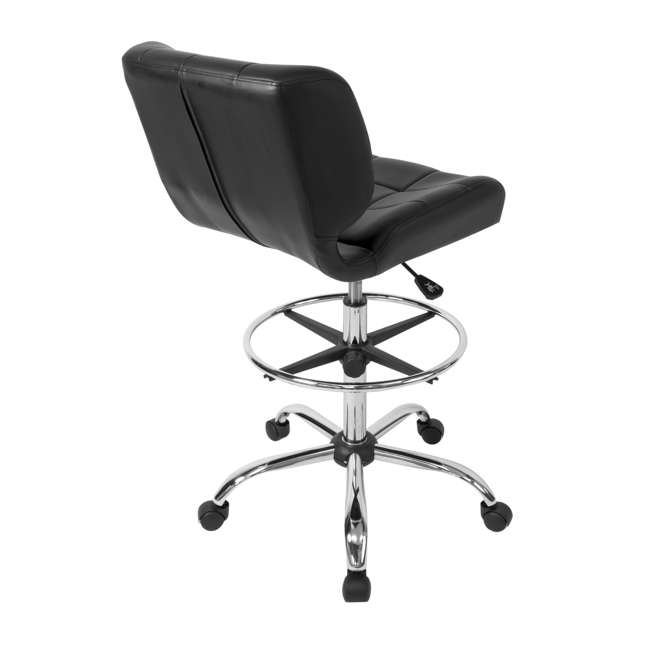 STDN-10659-U-A Studio Designs Crest Low-Back Height Adjustable Drafting Chair, Black (Open Box) 5