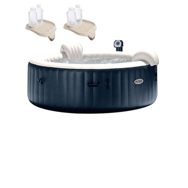28409E + 2 x 28500E Intex Pure Spa Inflatable 6-Person Hot Tub Attachable Cup Holder And Refreshment Tray  (2 Pack) 11
