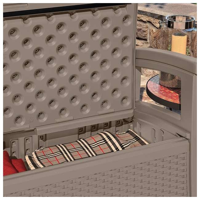 BMWB5000DT-U-B Suncast Elements Wicker Design Loveseat with Storage, Dark Taupe 4