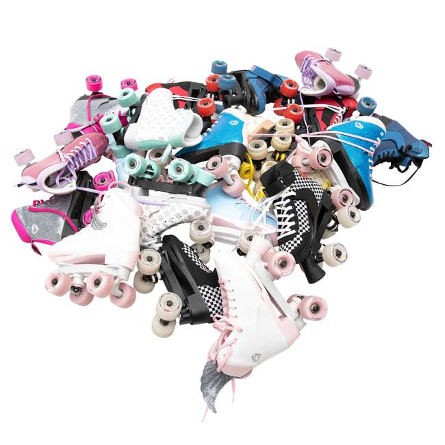 168260 Circle Society Classic Cotton Candy Kids Skates, Girls Sizes 12 to 3 11