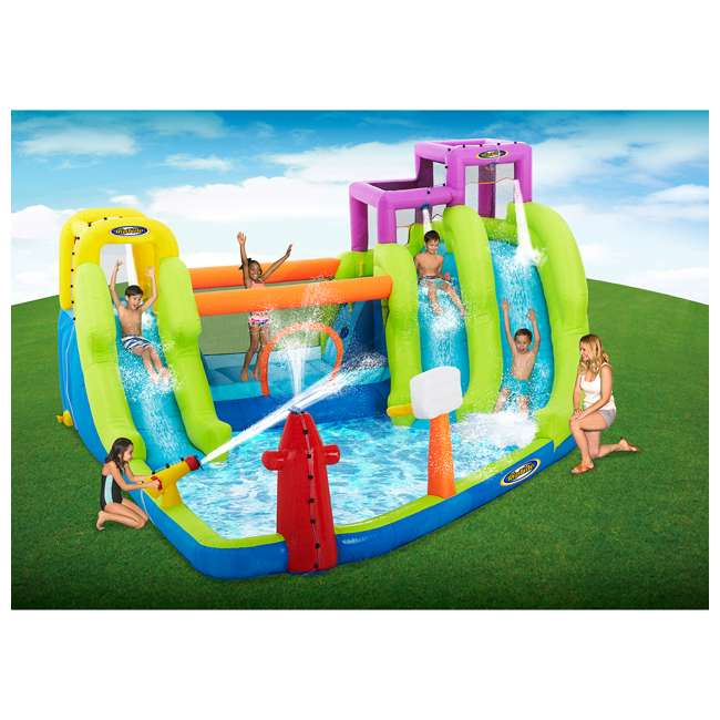 MTI-90717 RipTide Triple Fun Inflatable PVC Water Park with 3 Slides & Obstacle Course 10