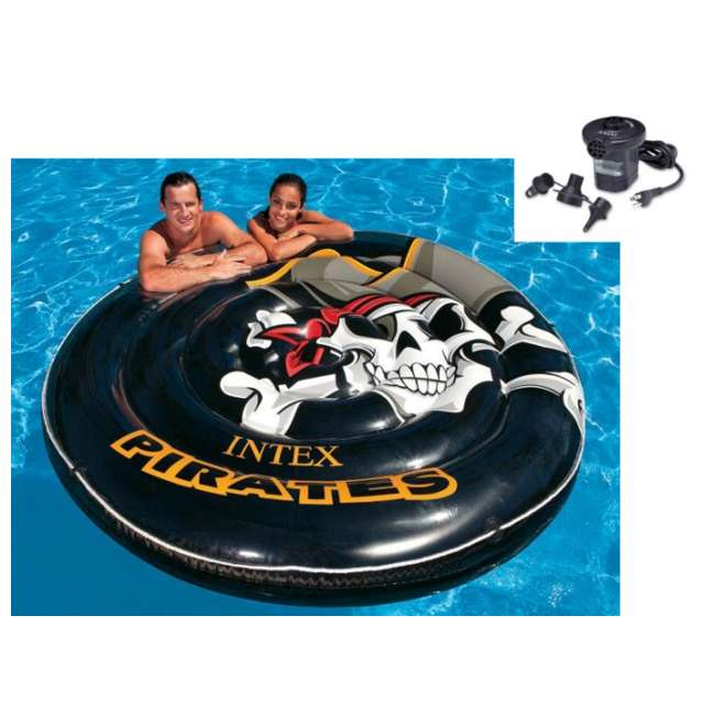 Intex Pirate Island Inflatable Pool Tube Float With Air Pump
