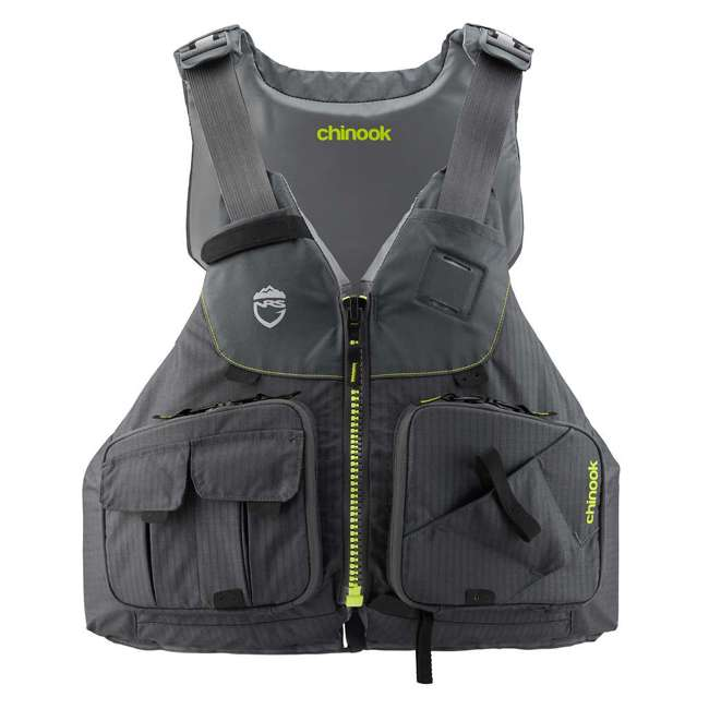 NRS_40009_04_101 NRS PFD Chinook Unisex Fishing Lifejacket, Charcoal, Small/Medium