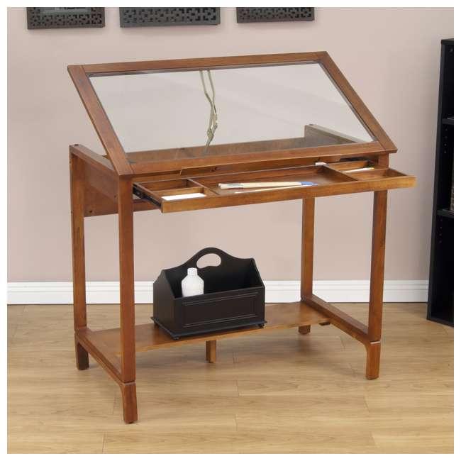 STDN-13280 Studio Designs Wooden Glass Top Ponderosa Drafting Desk (2 Pack) 2