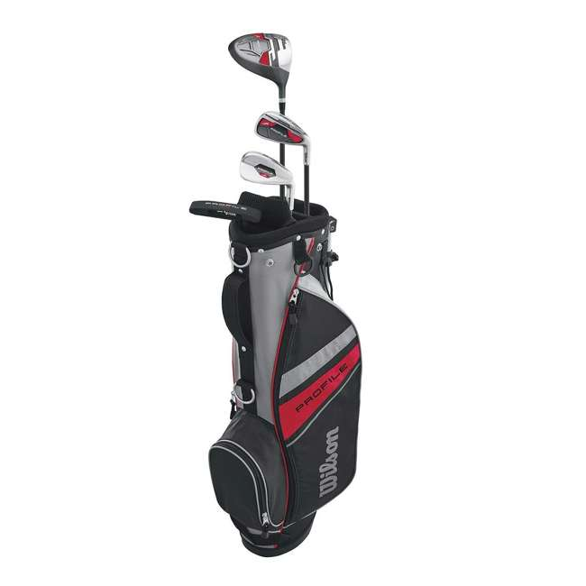 WGGC6132L Wilson 2017 Profile Junior Left Hand Small Golf Set w/ Red Golf Bag (2 Pack) 1