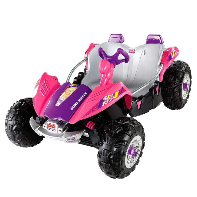 Fisher price power wheels barbie dune racer car y9367 for Fisher price motorized cars