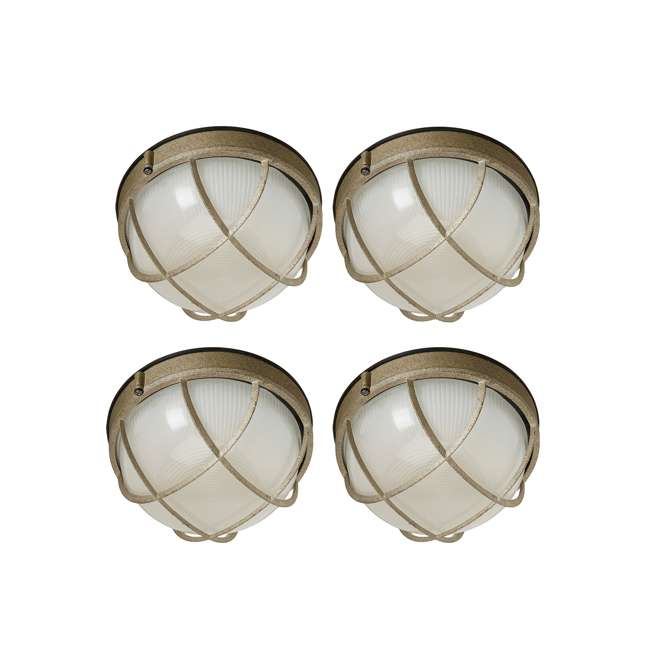 4 x PLC-F9039665N Philips Forecast Oceanview Wall Lantern (4 Pack)