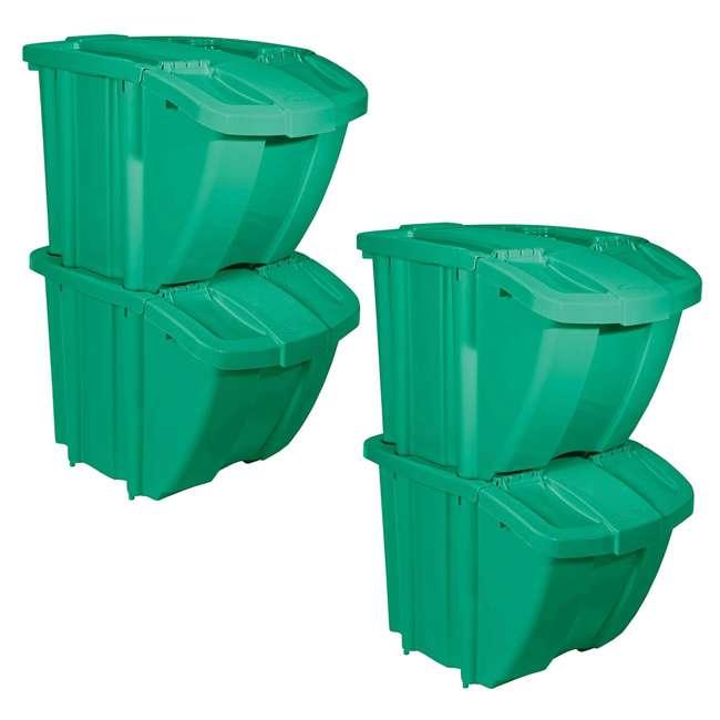 Trash & Recycling Suncast Recycle Bin Kit Kitchen Trash Cans ...