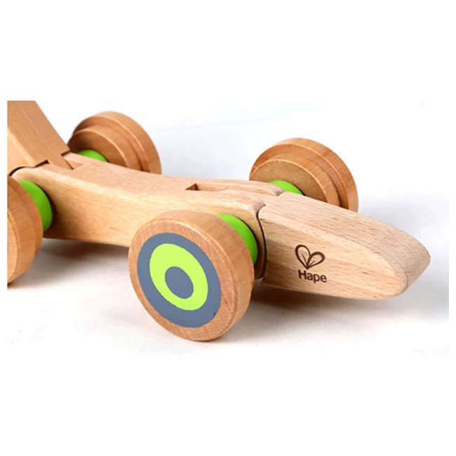 HAP-E0349 Hape Walk-A-Long Snail Wooden Push and Pull Toy 2