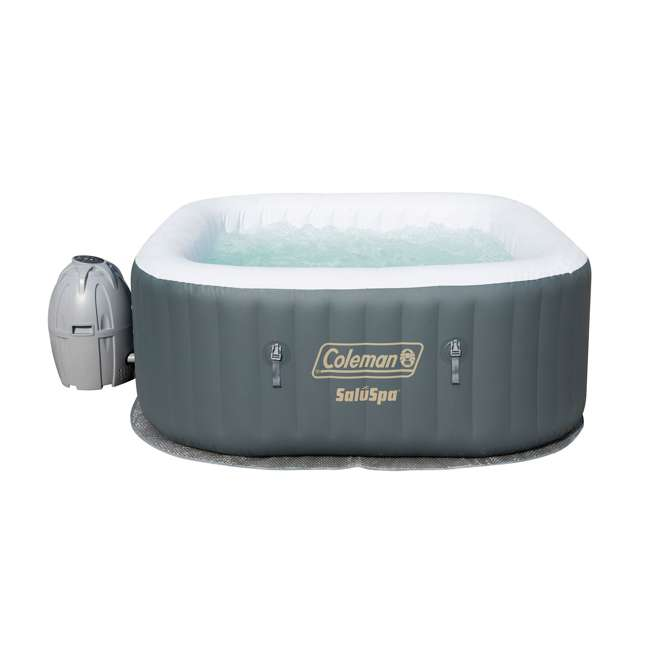 15442-BW + 58416-BW Coleman 4 Person Portable Inflatable Hot Tub (2 Pack) & Plastic Drinks Holder 3