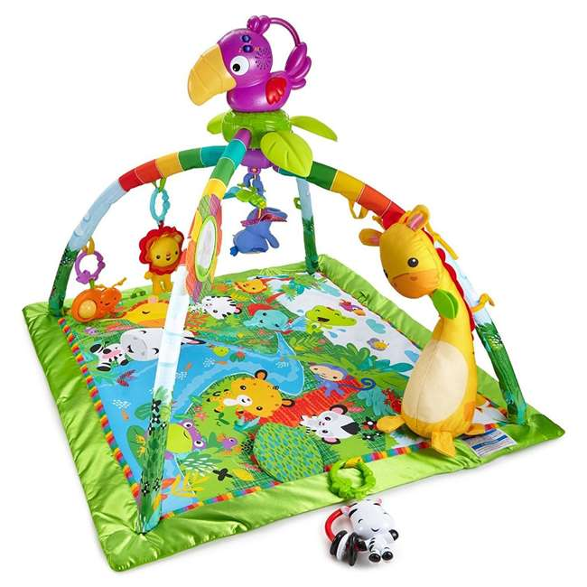 Fisher Price Rainforest Music And Lights Deluxe Gym Baby